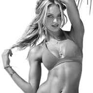 Candice Swanepoel in a bikini